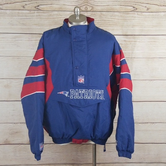 new product 03b55 1e7fa Starter New England Patriots Vintage Nylon Jacket